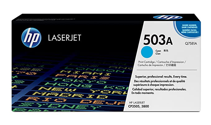 HP LaserJet Q7581A Color Print Cartridge (Cyan) Toner Cartridges at amazon