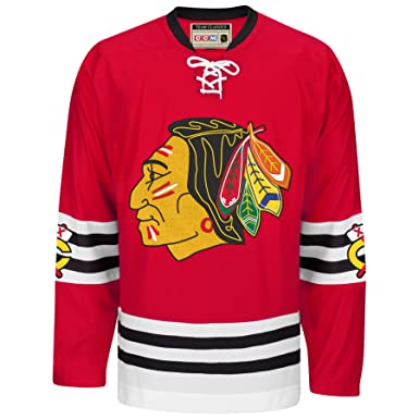 Amazon.com  Chicago Blackhawks CCM Throwback Premier Edge Jersey ... 775f5df8e12