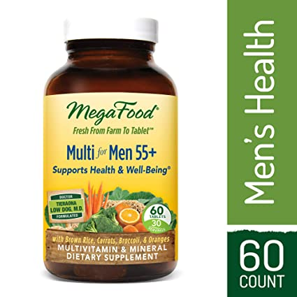 MegaFood - Multi for Men 55+, A Balanced Whole Food Multivitamin, 60 Tablets