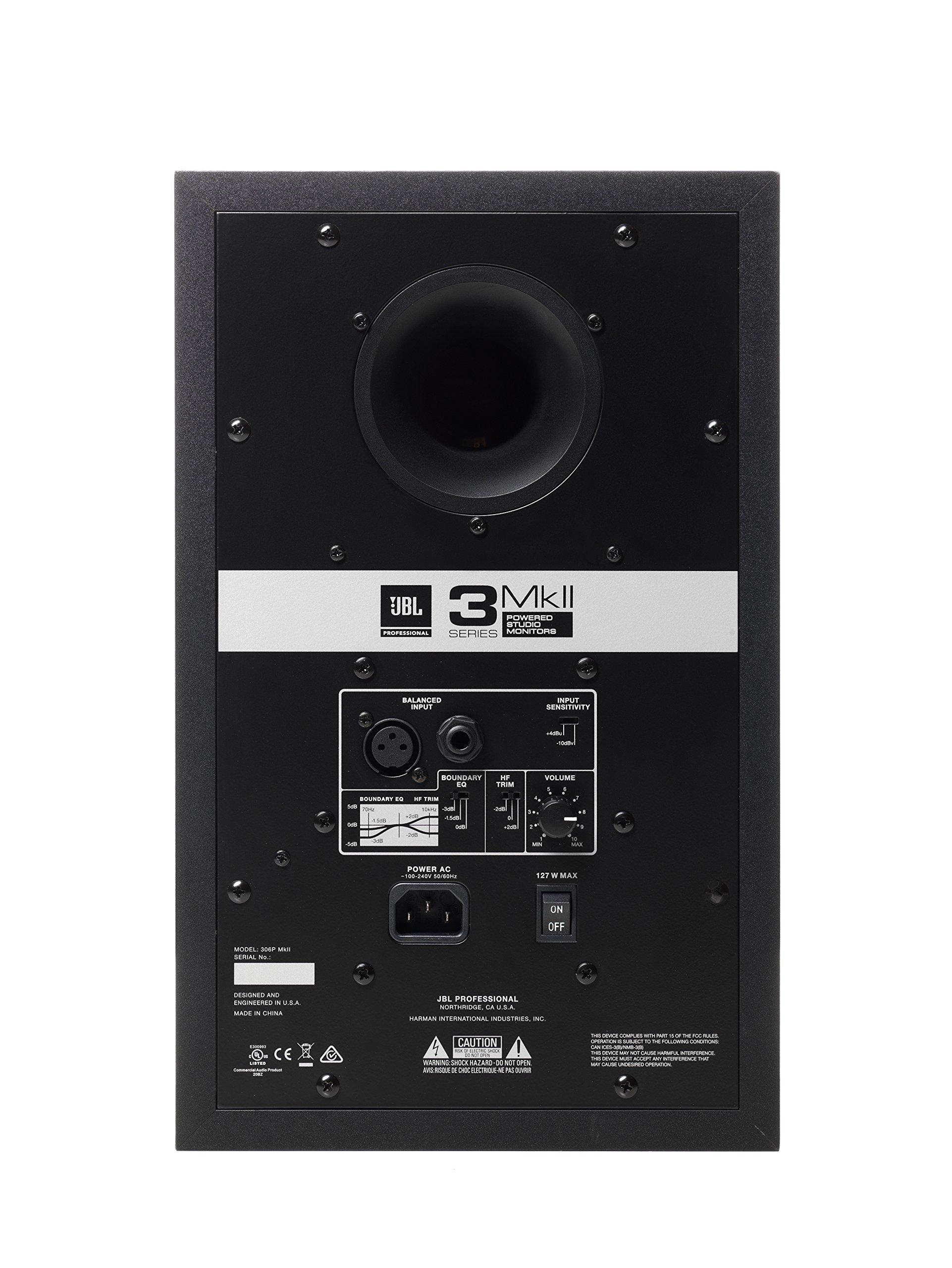 JBL 306P MkII 6'' 2-Way Powered Studio Monitor (new model) by JBL Professional (Image #5)