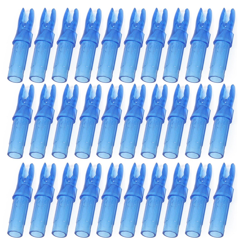 50 PCS 6.2mm Remplacement PC Arc Fl/èche Nocks pour Carbon Tir /à larc en Bois Bambou Fl/èche Fl/èche Beetest Encoche de Fl/èche en Plastique