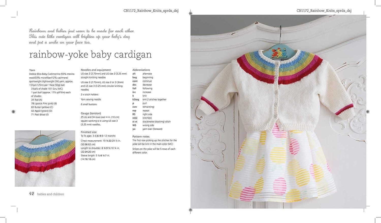 Amazon.com: Rainbow Knits: 20 colorido tejer patrones en ...
