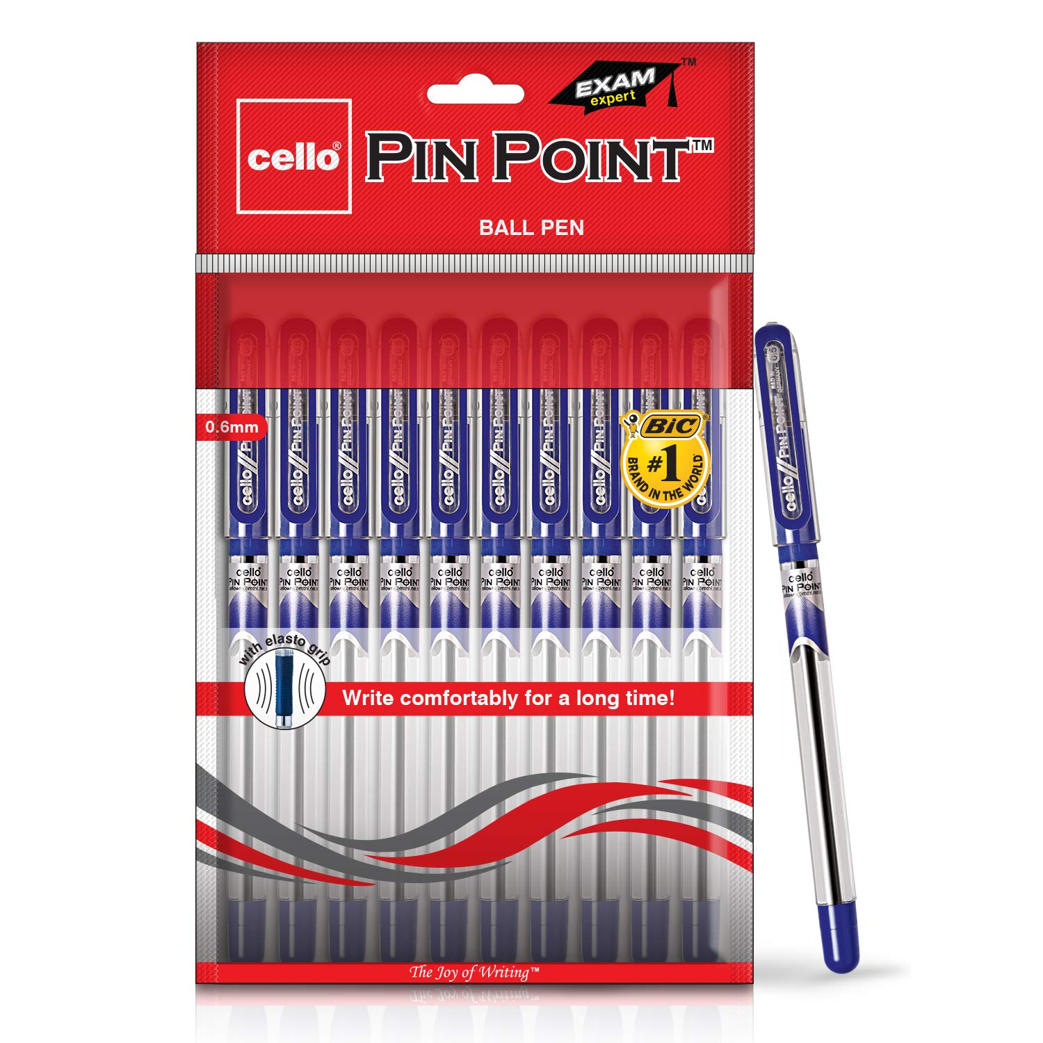 Cello Pinpoint Ball Pen Set - Pack of 10 (Blue) product image