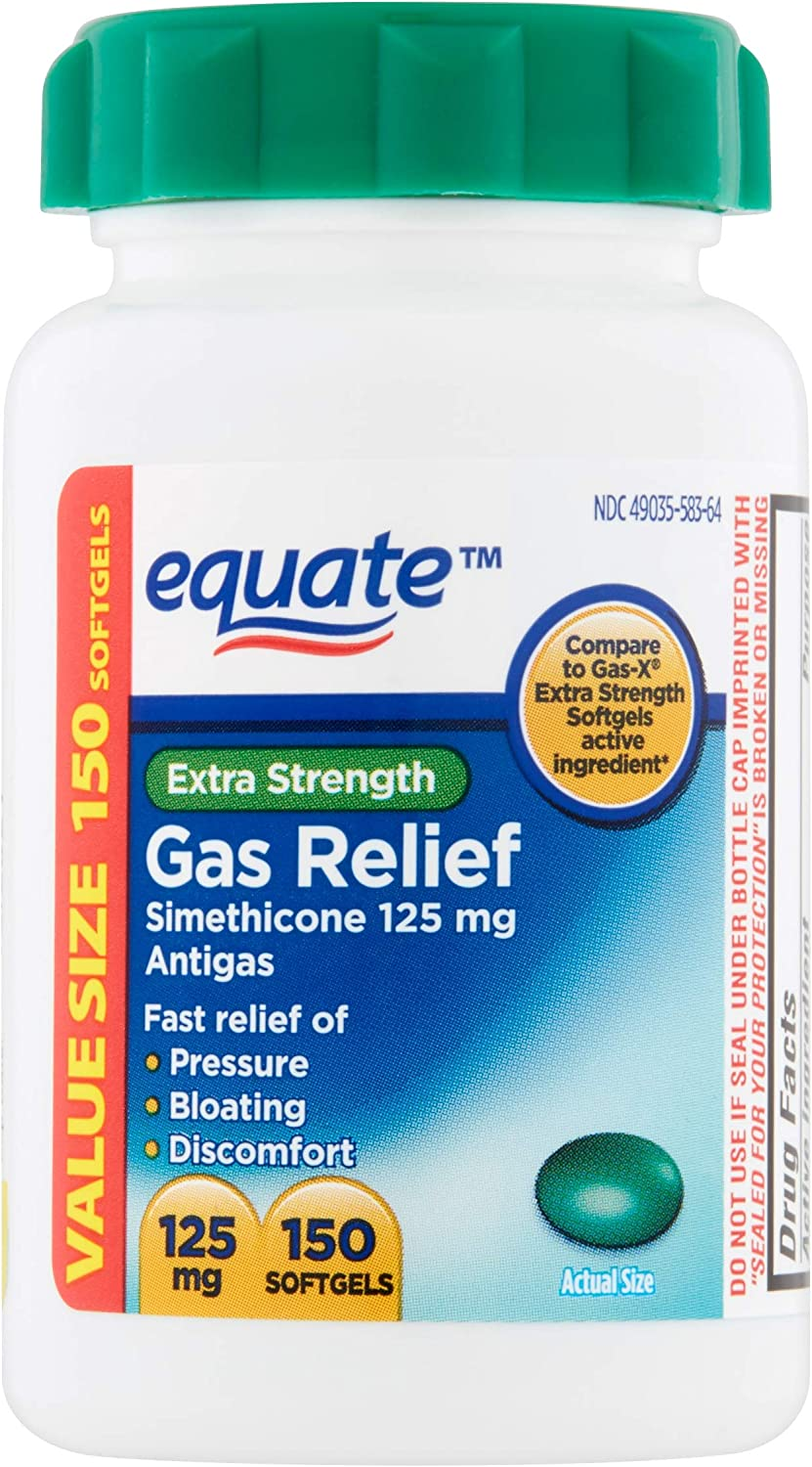 Equate Gas Relief 125mg - 150 Softgels Value Size: Health & Personal Care