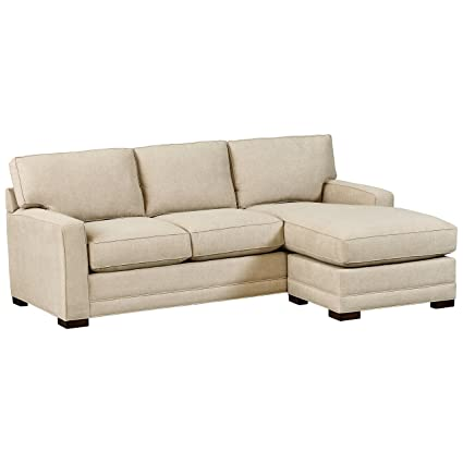 Stone & Beam Dalton Sofa Couch with Chaise, Sand