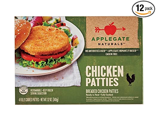 Applegate Naturals Chicken Patties, 11 Ounce (Pack of 12)