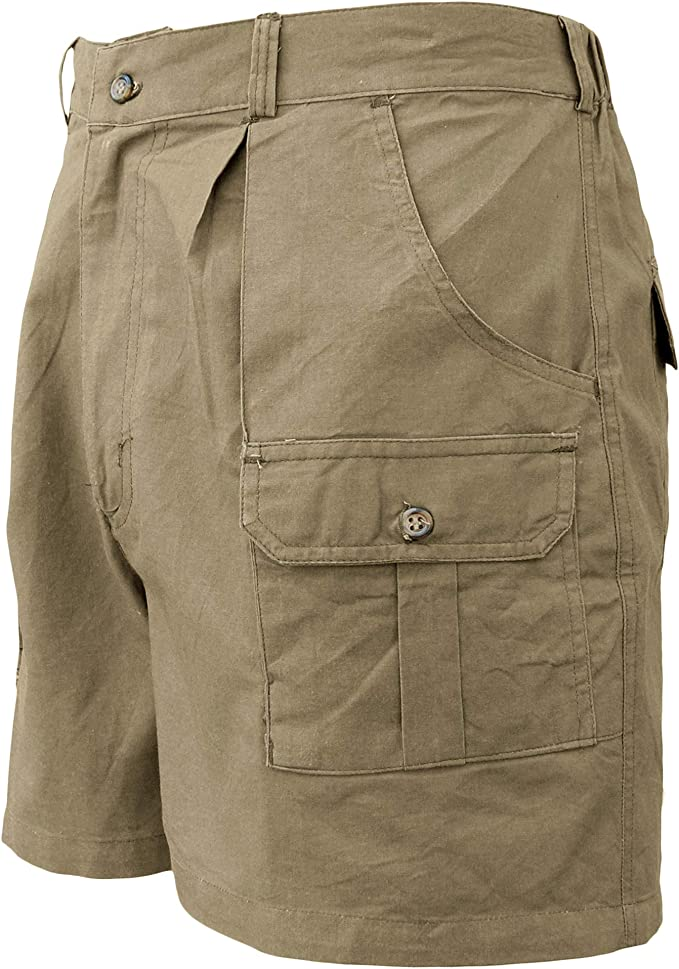 Amazon Com Hunter Safari Pantalones Cortos Para Hombre Profesional 100 Algodon Cargo Clothing