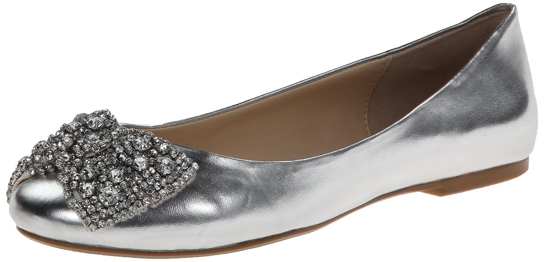 Betsey Johnson Frauen SB-EVER Geschlossener Zeh Leder Gleit SandalenUS 6.5 | UK 4.5 | EU 37|Silver Metallic