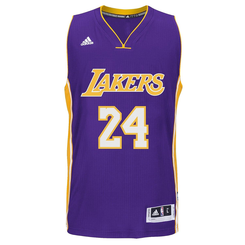 premium selection 906e4 48140 Amazon.com : Kobe Bryant Los Angeles Lakers Adidas Road ...