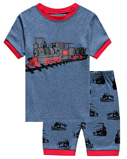 0dd373685 IF Pajamas Train Baby Boys Shorts Set Pajamas 100% Cotton Clothes ...