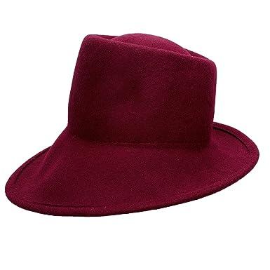 39f3f48187c Lawliet Womens 100% Wool Felt Tilt Asymmetrical Brim Wedding Church Fedora  Hat T289 (Wine