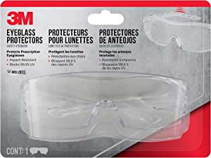 3M 47031-WZ6 Eyeglass Protectors with Scratch Resistant Lens, Frame: Clear & Lens: Clear