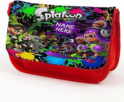 Estuche personalizado para lápices Splatoon Stationary Bag Regalo de vuelta a la escuela – rojo ST849: Amazon.es: Oficina y papelería