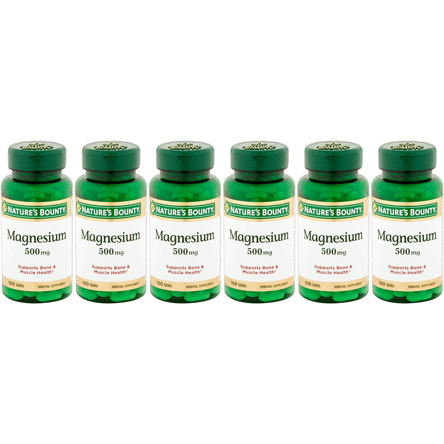 Amazon.com: Natures Bounty Magnesium 500 mg Tablets 100 ea (Pack of 6): Health & Personal Care