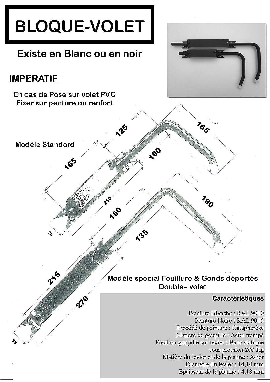2/adaptadores PVC para abrir y cerrar f/ácilmente todas las contraventanas sin tener que asomarse Bloqueo de las contraventanas abiertas Bloquea contraventanas blanco especial PVC: 2/topes de contraventana con asa Facilidad y seguridad