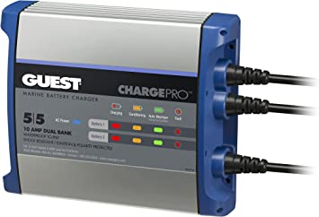 guest dual battery switch wiring diagram amazon com guest 2711a chargepro on board battery charger 10a  amazon com guest 2711a chargepro on