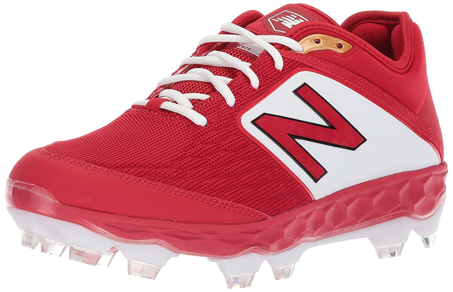New Balance Men's 3000v4 Baseball schuhe, rot Weiß, 12 D US