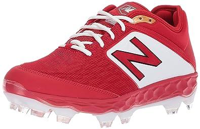 63d729eee9cf1 New Balance Men's 3000v4 Baseball Shoe, Red/White, 1.5 2E US