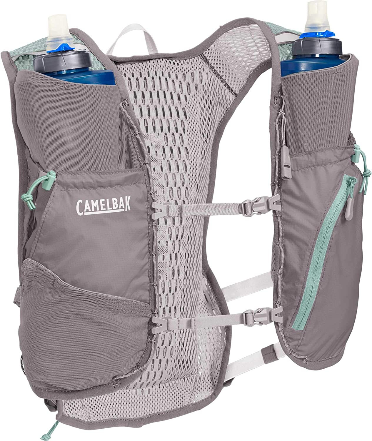 CamelBak Zephyr Running Hydration Vest – Integrated Rain Cover – Stretch Overflow Pocket