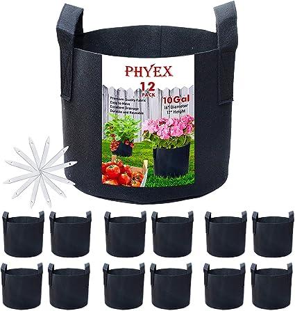 Gardzen 20-Pack 1 Gallon Nonwoven Grow Bags Aeration Fabric Pots