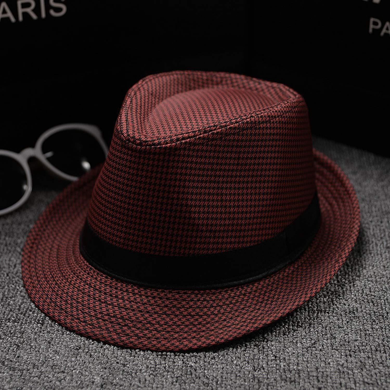 Multicolor Optional Solid Raw Hat Women Beach Casual Sun Hats Jazz Caps British YLE Hat,Black Belt Coffee