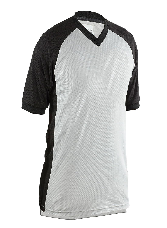 SMITTY Comfort TechパフォーマンスメッシュVネックシャツ B00QPCKHDC グレー Medium