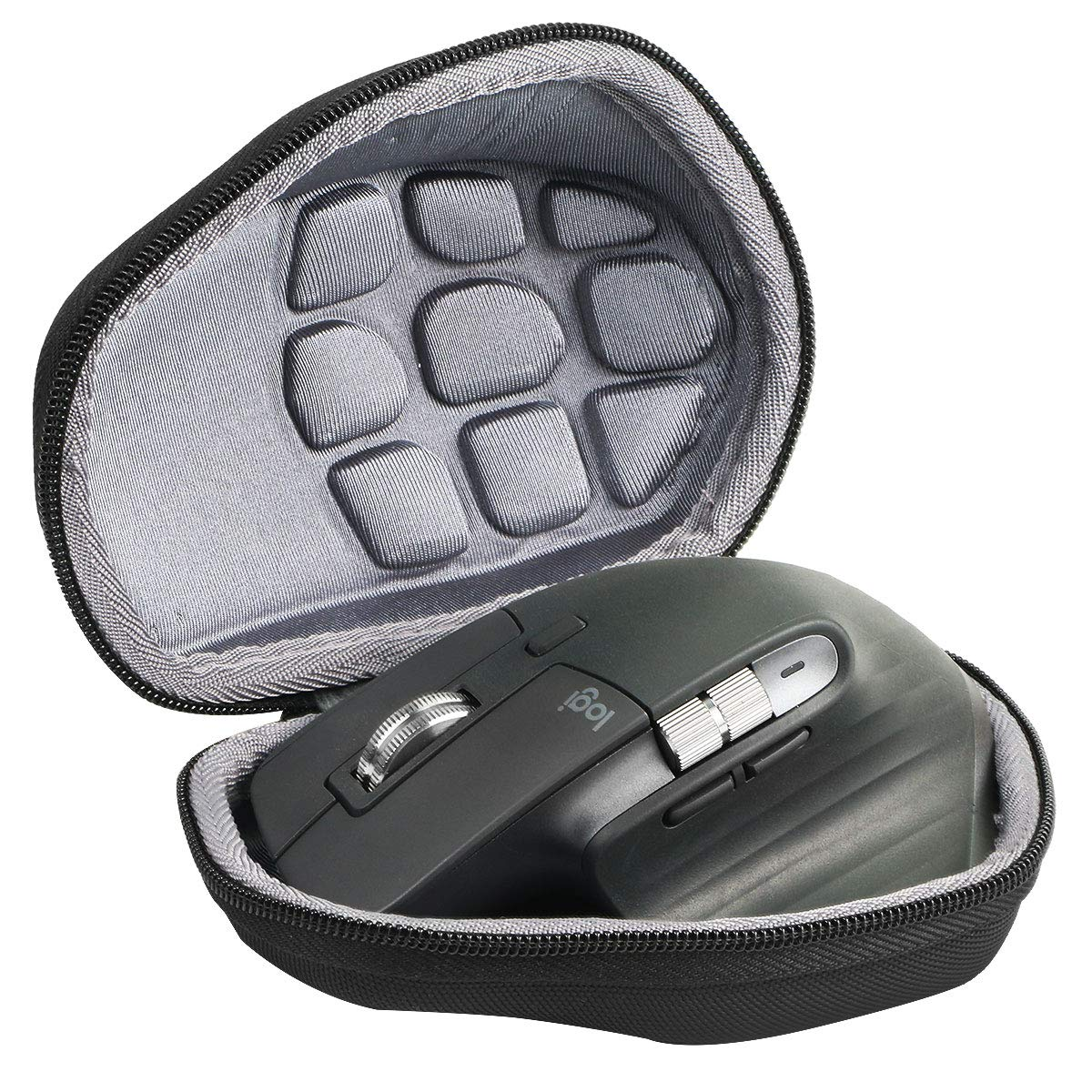 co2crea Hard Travel Case Replacment for Logitech MX Master / Master 2S Advanced Wireless Mouse (Black Case)