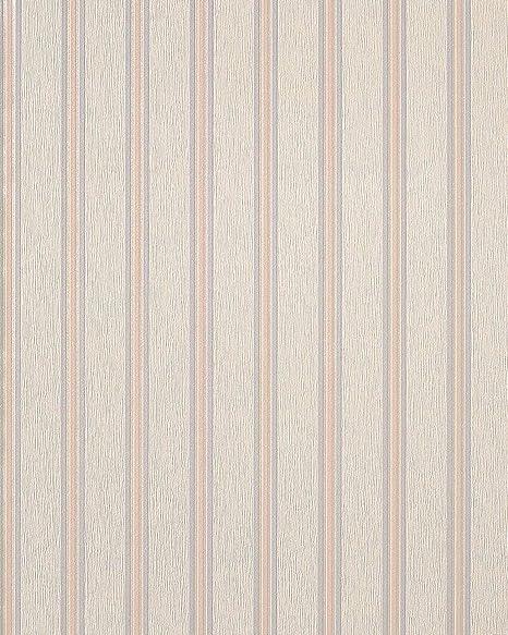Style Striped Wallpaper Wall EDEM 112 33 Beige Cream Light Pink Violett Pearl 533