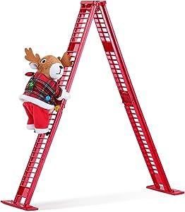 Mr. Christmas Tabletop Climber - Reindeer Christmas Décor, Red