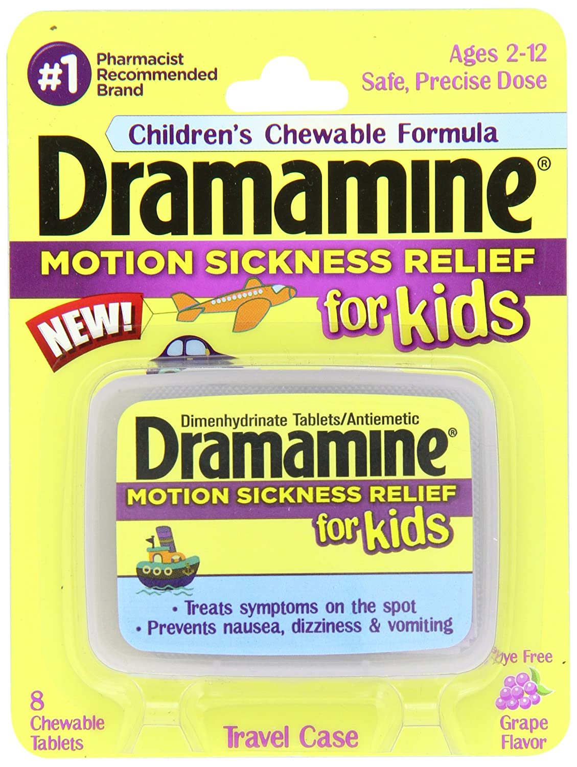 amazon com dramamine motion sickness relief for kids grape