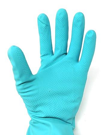 Homdum Soft Rubber Hand Gloves, Multi Purpose Reusable Washing, Cleaning Kitchen, Garden,Dish Washing - 1 Pair only