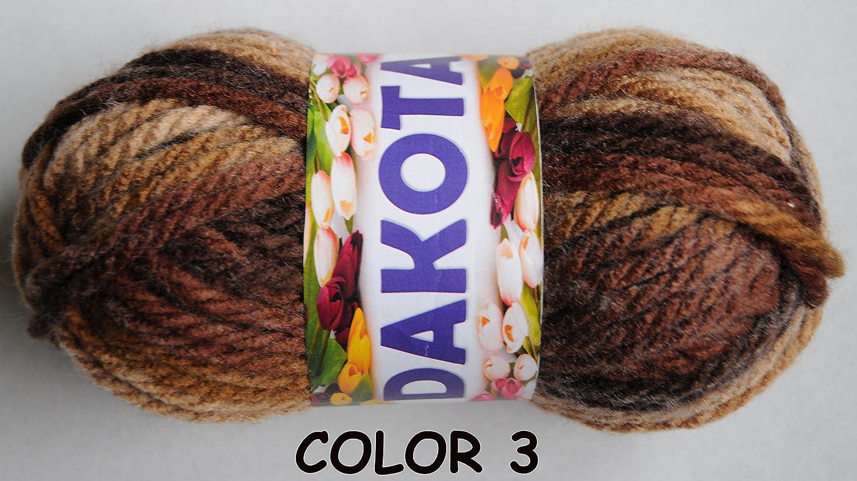 LANA DAKOTA MULTICOLOR COLOR 003 - PACK 10 OVILLOS 80 GR: Amazon.es: Hogar