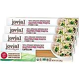 Jovial Capellini Gluten-Free Pasta | Whole Grain Brown Rice Capellini Pasta | Non-GMO | Lower Carb | Kosher | USDA Certified