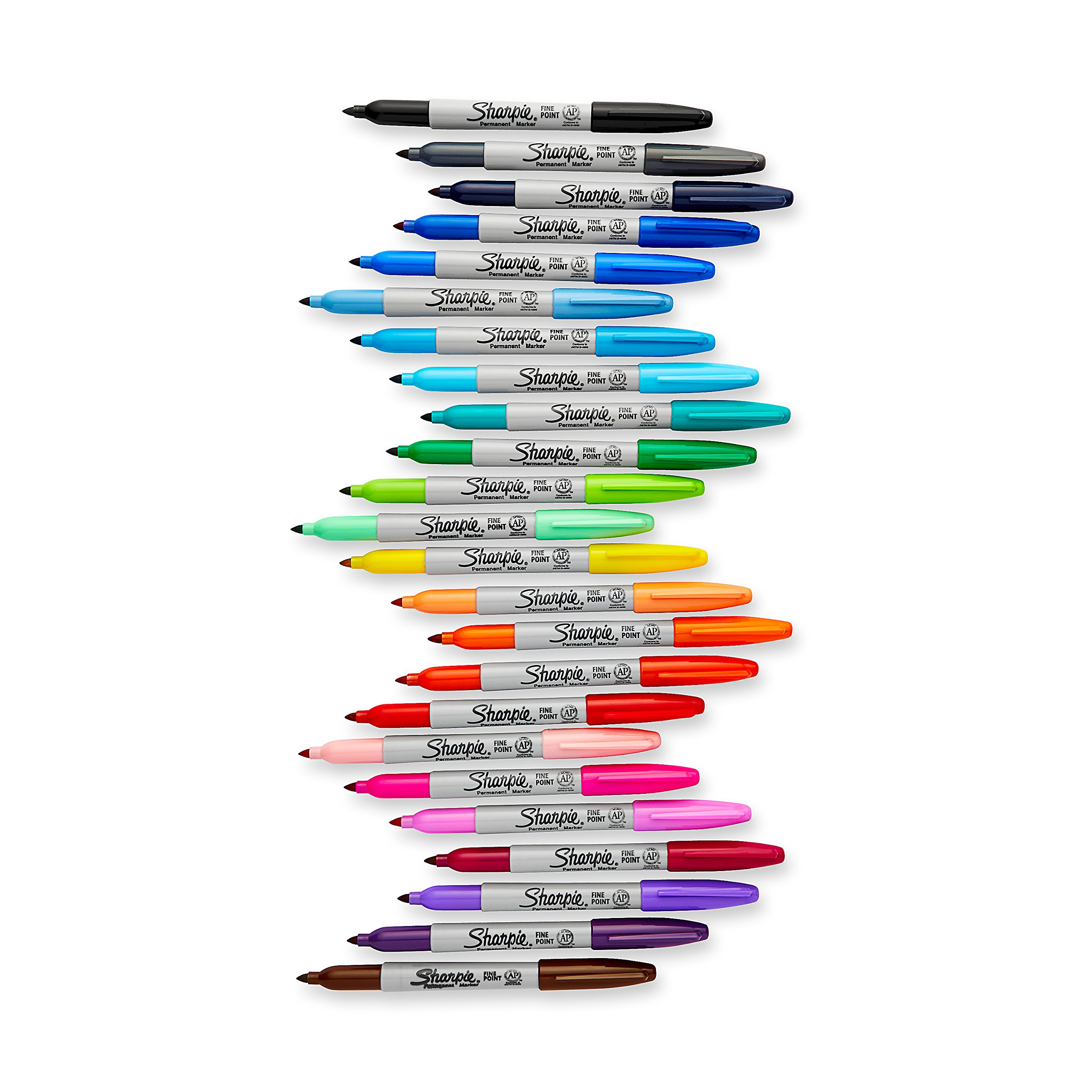 Sharpie Electro Pop Permanent Markers, Fine Point, Assorted Colors, 24 Count by Sharpie (Image #3)