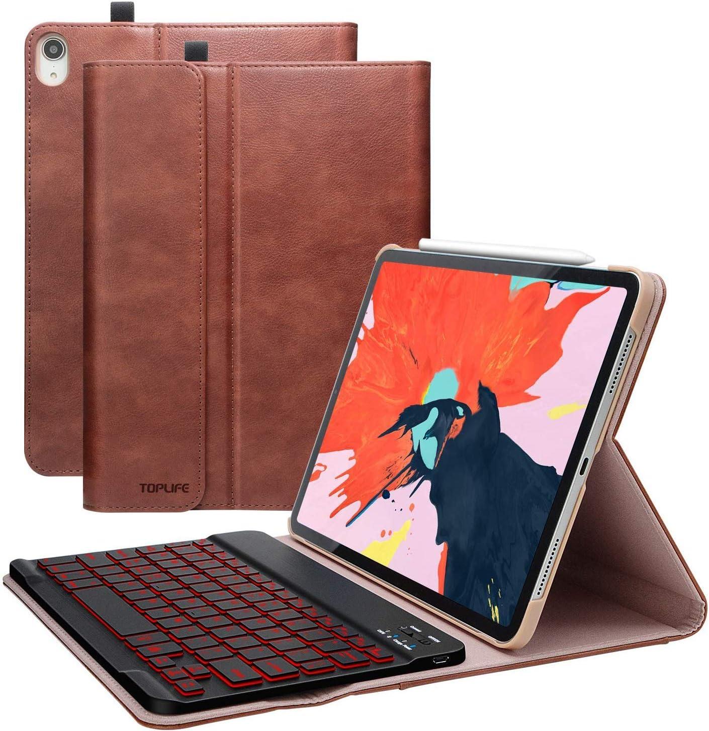 TOPLIFE Funda con Teclado iPad 11, Funda iPad 11