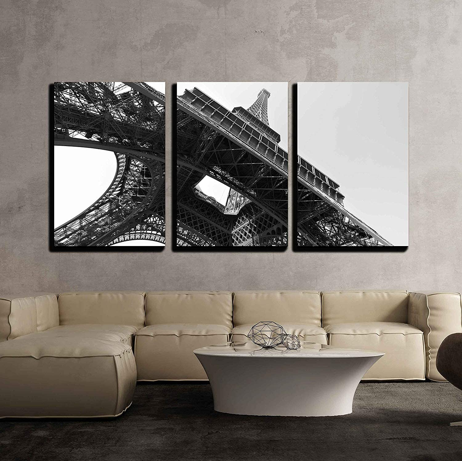 wall26-3 Piece Canvas Wall Art 16x24x3 Panels Modern Home Decor Stretched and Framed Ready to Hang a Mechanical Background with Gears and Cogs