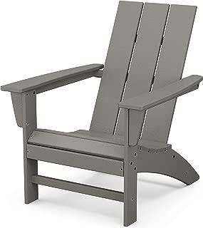 product image for POLYWOOD AD420GY Modern Adirondack Chair, Slate Grey