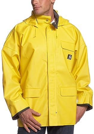 72fff0dea Carhartt PVC Rain Coat with Detachable Hood c64: Amazon.co.uk: Clothing