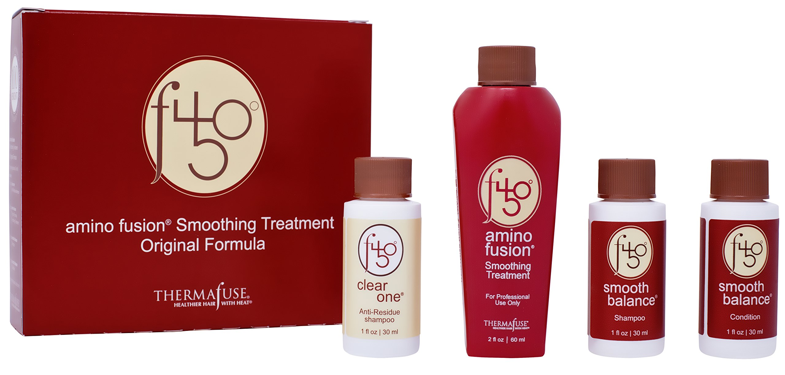 Thermafuse f450 Amino Fusion Smoothing Treatment. Formaldehyde Free Treatment. Repairs and Straightens Up To 12 Weeks on Natural, Normal, Coarse, Wavy, Thick, African and Curly Hair Types