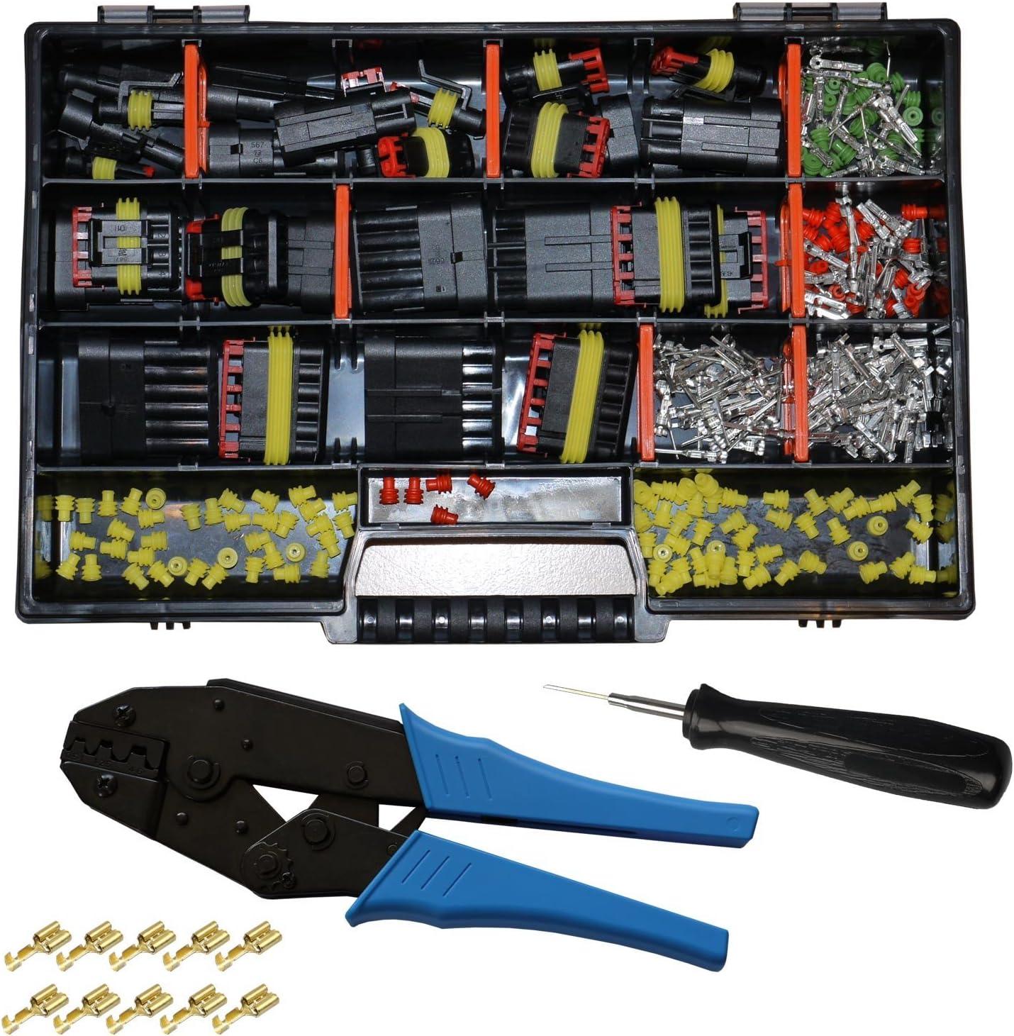 AMP Superseal Gehäuse Set 3-polig inkl.Gehäuse Kontakten Einzeladerdichtungen