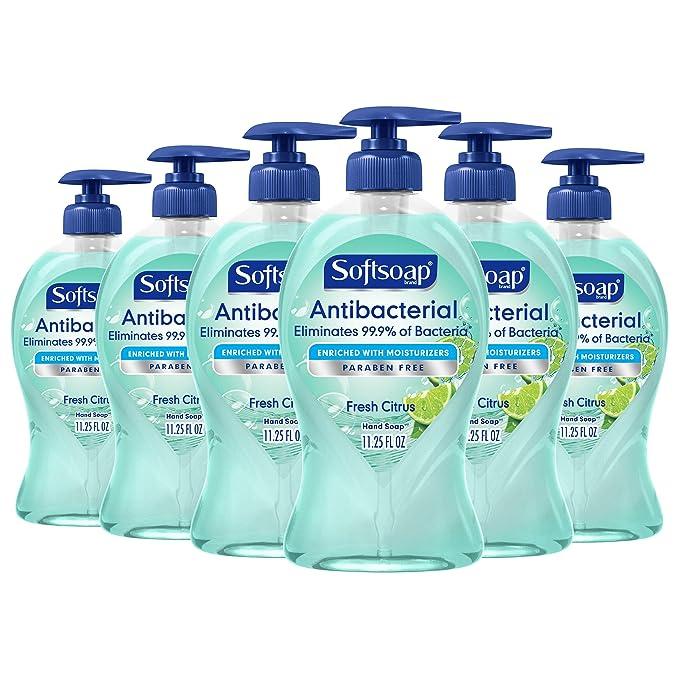 Softsoap Antibacterial Liquid Hand Soap, Fresh Citrus - 11.25 Fluid Ounce (6 Pack)   Amazon