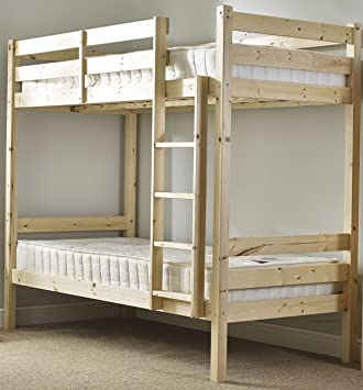 Adult Bunkbed 2ft 6 Small Single Solid Pine Bunk Bed Can Be Used