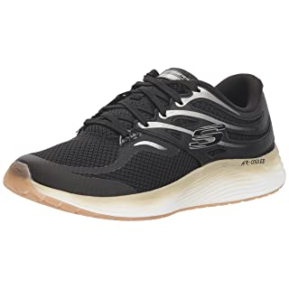 Skechers Sport Women's Skyline Sneaker,black/gold,7 M US