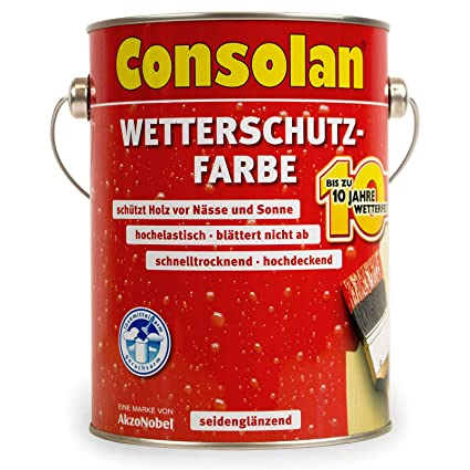 Gut gemocht 2,5 Liter Consolan Wetterschutzfarbe silbergrau Nr. 217: Amazon.de BE31