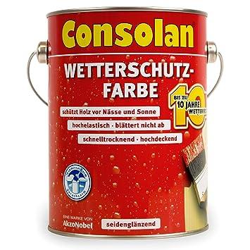 25 Liter Consolan Wetterschutzfarbe Silbergrau Nr 217 Amazonde