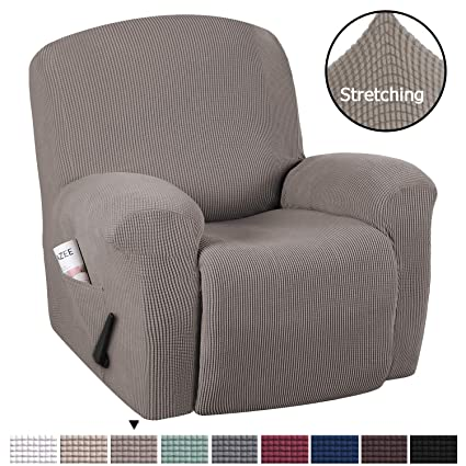 Swell H Versailtex Durable Soft High Stretch Jacquard 1 Piece Recliner Cover Sofa Slipcover Taupe Couch Covers Lycra Jacquard Furniture Protector Machine Ibusinesslaw Wood Chair Design Ideas Ibusinesslaworg