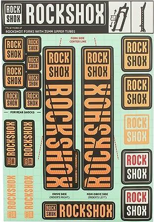 RockShox Decal Kit NE02 Orange MY18 Pike//Lyrik//Yari//Domain//Revelation Black 35MM