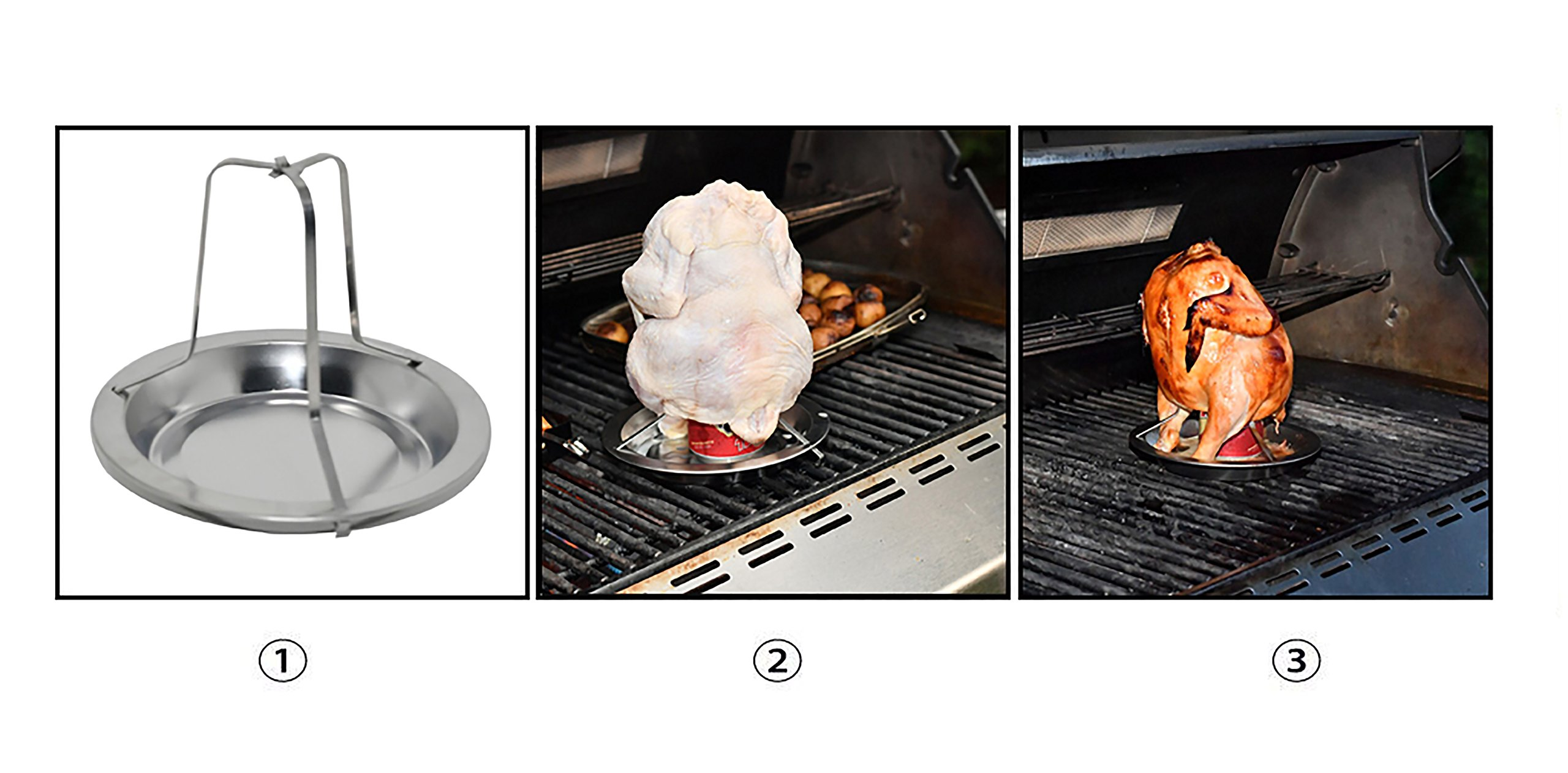 Barbecue Beer Can Chicken Roaster - by Home-X by Home-X (Image #9)