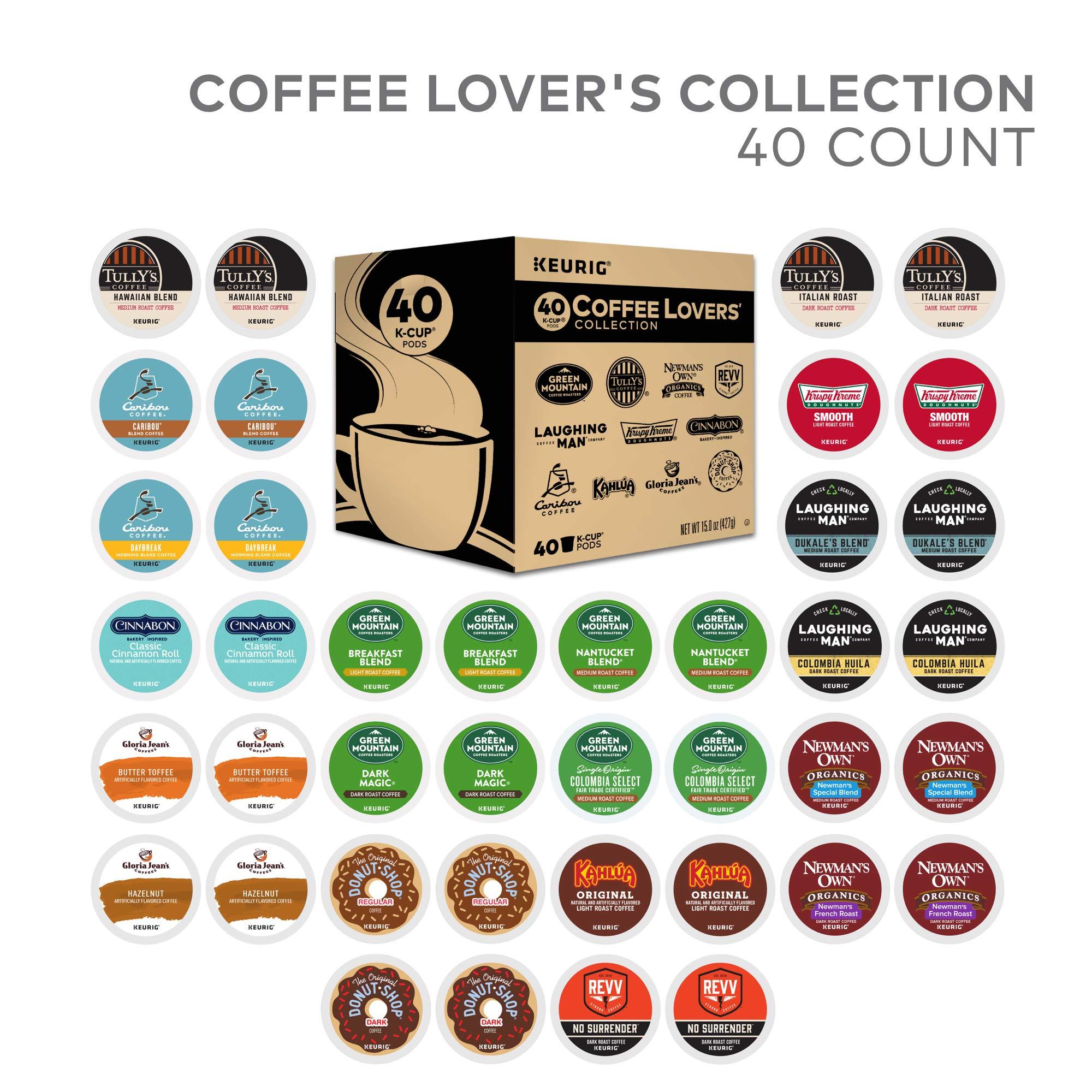 Green Mountain Coffee Keurig Coffee Lover's Variety Pack Single-Serve K-Cup Sampler, 40 Count by Keurig