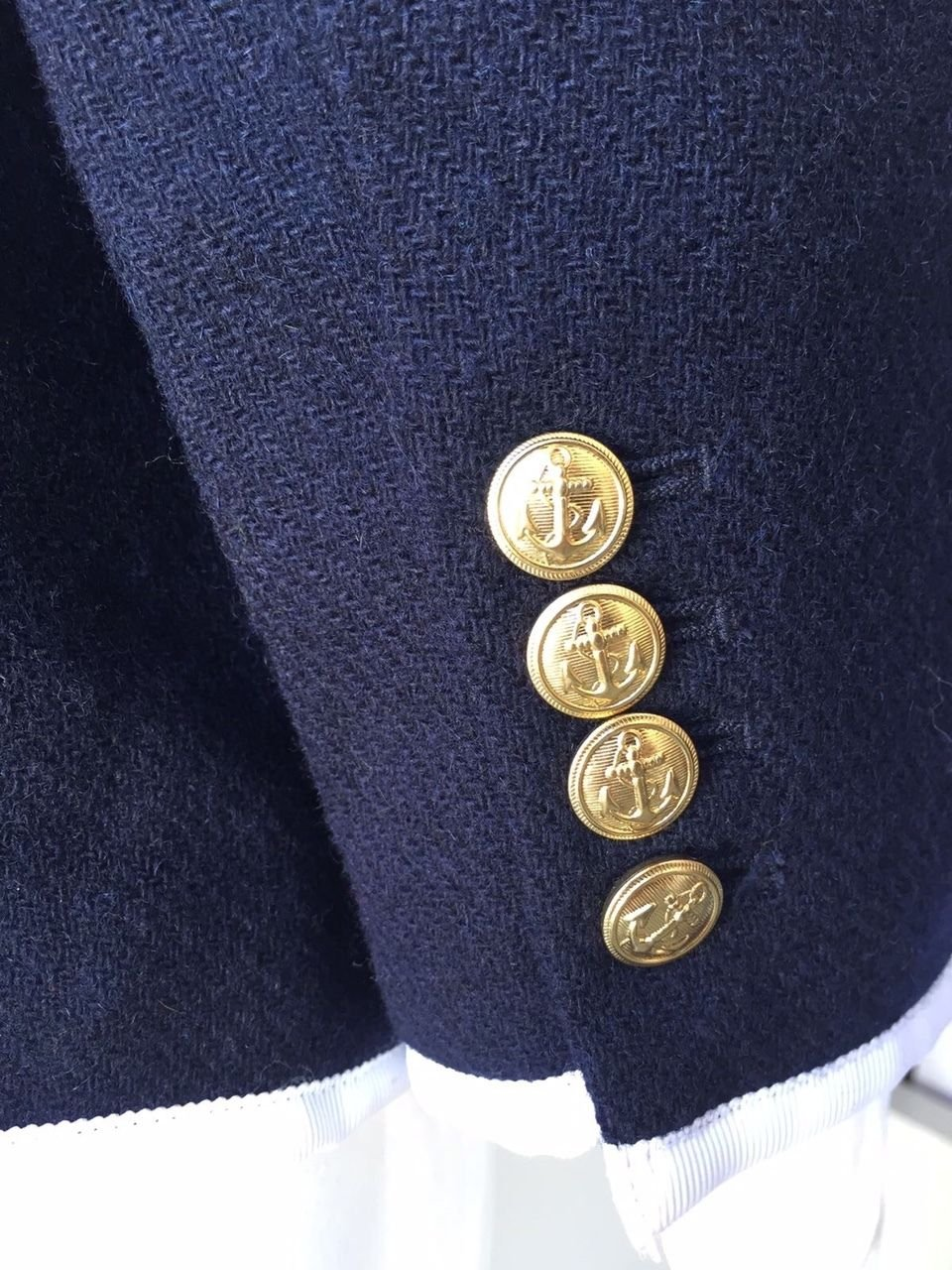 Thom Browne for Neiman Marcus + Target Navy Wool Blazer Size Medium by Thom Browne (Image #7)
